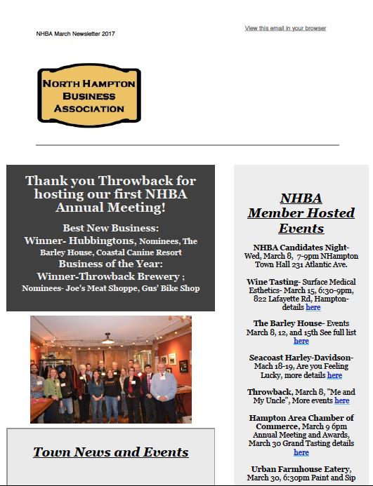NHBA newsletter March 2017