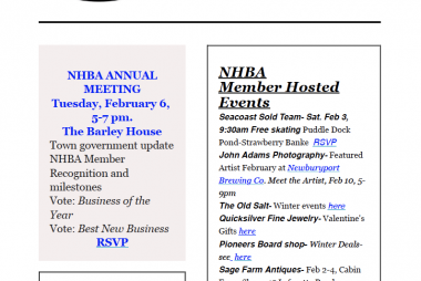 NHBA Newsletter January 2018