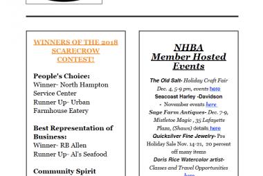 NHBA Newsletter November 2018