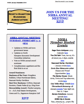 NHBA January 2019 Newsletter