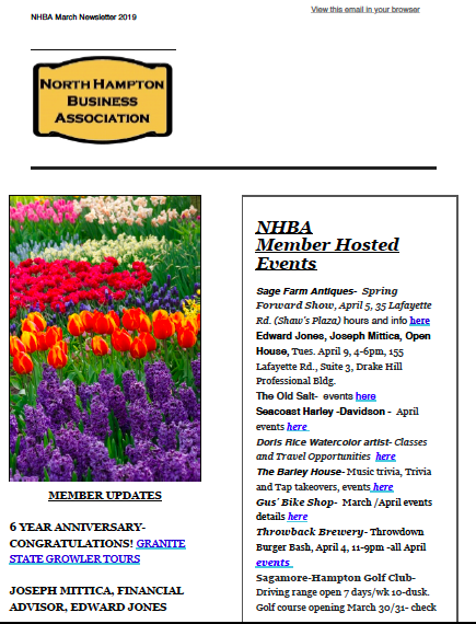 NHBA March 2019 Newsletter