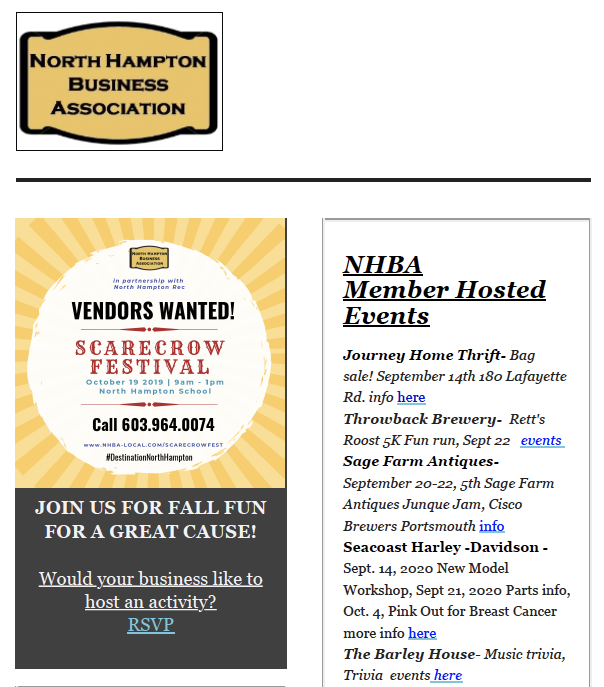 North Hampton Business Association | September 2019 News